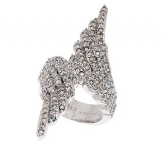Kirks Folly Fly Home Angel Wing Ring —