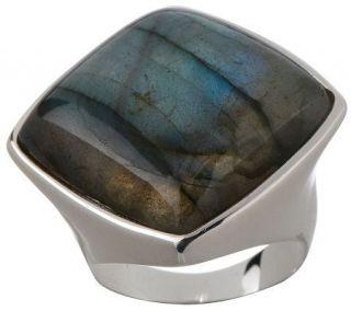 Arte dArgento Sterling Bold Polished Labradorite Ring —