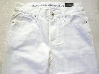 Mens 34 x 32 Guess Crescent Fit Jeans White Denim