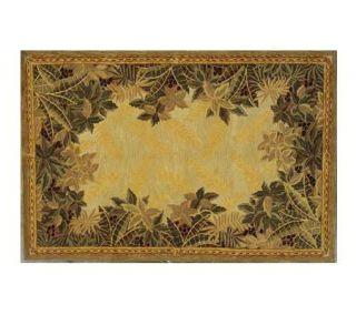 Royal Palace Wool Beige Tropical 79 x 96 Rug —