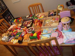 LOT PLAY FOOD KIDS PRETEND FOOD KITCHEN DISHES MELISSA & DOUG WOOD