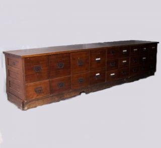 Antique Oak Country Store Display Bean or Seed Counter