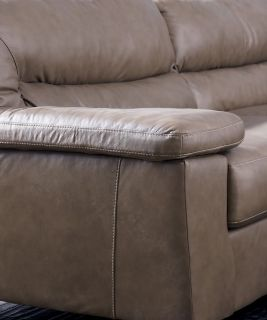 lf ev modern sectional leather sofa ottoman