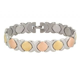Steel by Design Tri color Stampato Bracelet Stainless Steel —