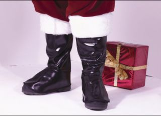 Christmas Santa Claus Fur Boot Tops Shoe Covers Costume