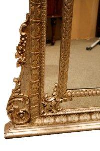 decotative italian silvered leaf mirror