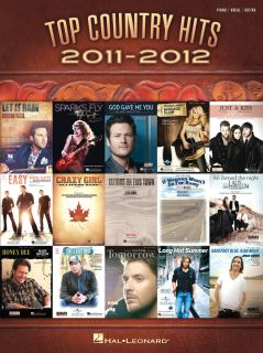 Top Country Hits of 2011 2012 Piano Vocal Guitar Sheet Music Song Book