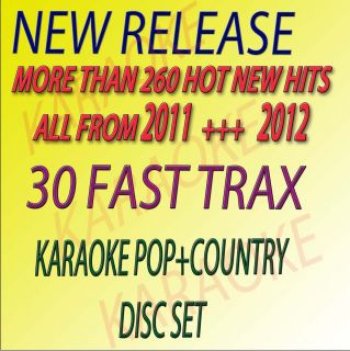 NEW FAST TRAX 30 COUNTRY POP CD G KARAOKE HOT TRACKS ORIGINAL GREAT