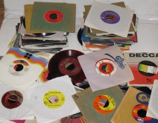 100 Bulk Record Lot 45 RPM Jukebox Mixed Rock Country Pop