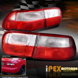 Honda Civic EG Coupe Sedan JDM Red White Tail Lights