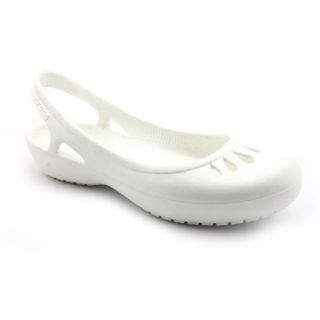 Crocs Malindi Youth Kids Girls Size 2 White Synthetic Slingbacks Shoes
