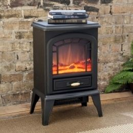 Estate Design Courtland 400 Sq ft Electric Stove Fireplace Heater