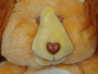 Vintage 1984 Care Bear Cousins Kenner Brave Heart Lion Plush Stuffed