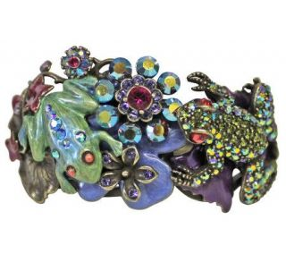 Kirks Folly Froggy Friends in the Glen Hinged Cuff Bracelet   J111488
