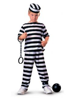 Prisioner Boys Girls Criminal Convict Childs Halloween Costume