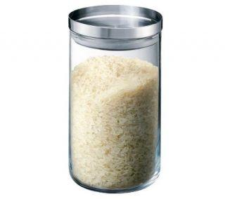 Bodum Yohki Glass Storage Jar with Stainless Steel Lid, 34 oz