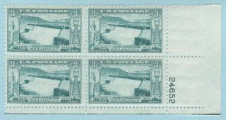 1009 Grand Coulee Dam 3 Cent Stamp MNH Plate Block