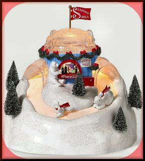 Coca Cola Sliding Hill UTube New Department Dept 56 North Pole Village