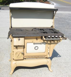 Bakeasy Combination Kalamazoo Michigan Gas Wood Cooking Stove