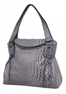 New Ladies Croc Tassel Handbag Shoulder Bag Lilac Camel