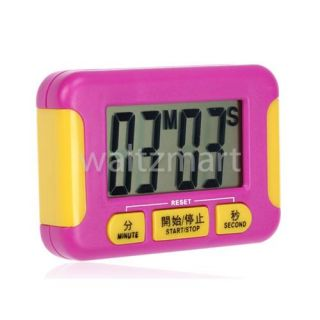 Pink Mini Digital LCD Kitchen Cooking Chef Timer Count Up Down Alarm