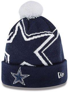 dallas cowboys new era woven biggie cuffed knit hat