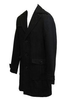 Mens Ben Sherman Jacket Crombie Mod Reefer Style Black