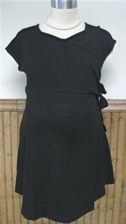New 2X 22 24 Pretty Plus Maternity Surplice Faux Wrap Knit Top Blouse