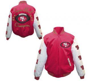 NFL San Francisco 49ers 5X Super Bowl ChampionsCanvas Jacket