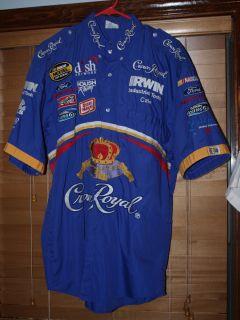 Race Used NASCAR Pit Crew Shirt Crown Royal Roush Racing