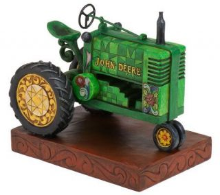 Jim Shore John Deere Traditions Tractor Figurine —