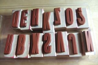 Stampin Up ~ Headline Alphabet ~ Rubber Stamp Set