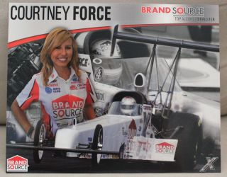 Courtney Force Brand Source Top Alcohol Car Driver Handout