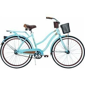 26 Lady Beach Cruiser Bicycle Bike Woman Blue Metallic