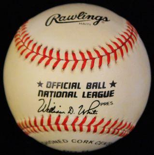 Jeff Bagwell Craig Biggio Signed ONL Baseball Autographed Astros