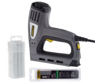 Stanley Electric Staple Gun & Nailer with Staples & Nails —