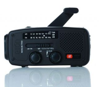 Eton Solar AM/FM/NOAA Weather Band Radio   Black —