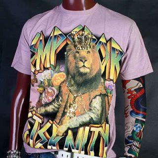 EA0044PI Eternity Lion King Crown Biker Skate T Shirt L