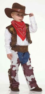 Kids Cowboy Wild West Sheriff Childs Halloween Costume Small 4 6 Chaps