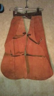 1950s   Childs/Boys Leather Cowboy Chaps   western   lone ranger
