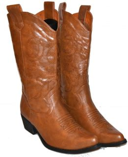 Womens Cowgirl Boots Cowboy Black Light Brown Dark Brown Red Gray Pink