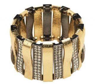 Luxe Rachel Zoe Arch of Texture & Pave Stretch Bracelet   J265142