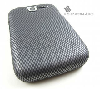 Carbon Fiber Design Hard Shell Snap on Case Cover Pantech Renue Phone