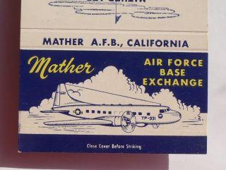Matchbook Mather Air Force Base AFB Plane Gate Rancho Cordova CA