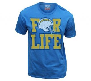 NFL San Diego Chargers Fan For Life T Shirt —