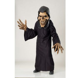 RU73293 Creature Reacher Grim Reaper Oversized Skull Mask Black Robe