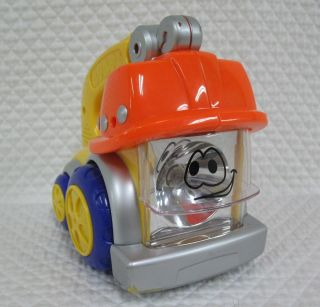 Yellow Orange Purple Plastic Hard Hat Truck Flashlight Blue Box Toys