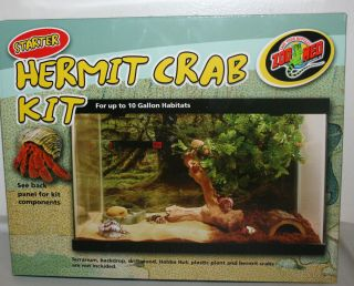 ZOO MED STARTER HERMIT CRAB KIT FOR UP TO 10 GALLON HABITATS