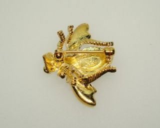 Joan Rivers Multi Color Crystal Rhinestone Bee Pin Brooch Insect Bug