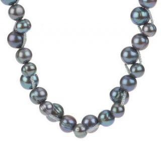 Honora Cultured FreshwaterPearl 7.0mm Ringed Bubble Pattern Necklace